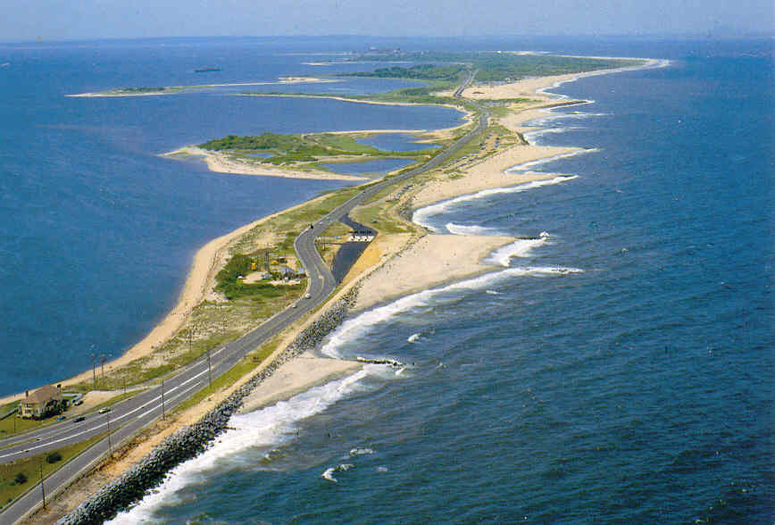 7 miles of unspoiled beaches at Sandy Hook